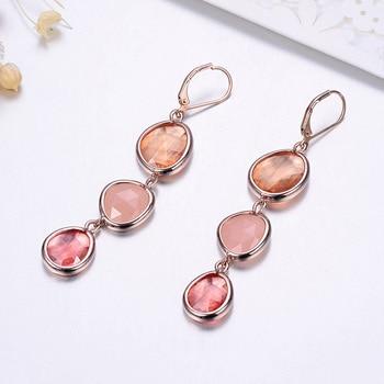 Resin Water Drop Long Earrings For Women Girls Gold Color Alloy Female Dangle Hanging Earring Fashion Ear Jewelry Brincos 2020 2