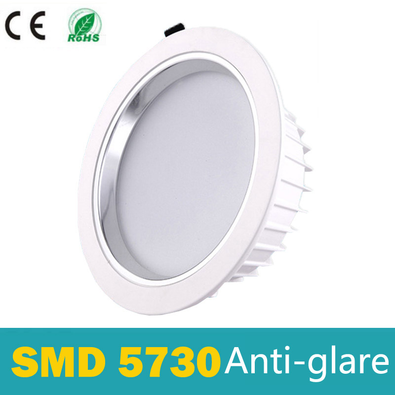 LED Downlight Dimmable 5W 7W 9W 12W 15W LED spotlight 5730 AC 110V 220V Anti-glare Inbyggd LED taklampa ip44 för badrum