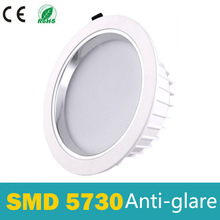 LED Downlight Dimmable 5W 7W 9W 12W 15W LED spot light 5730 AC 110V 220V Anti-glare Recessed LED Ceiling Lamp ip44 for bathroom [dbf]super bright recessed led dimmable square downlight cob 7w 9w 12w 15w led spot light decoration ceiling lamp ac 110v 220v