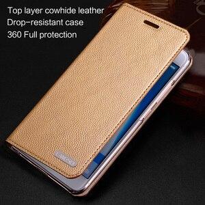 Image 2 - wangcangli leather calfskin litchi texture For MOTO XT1662 flip phone case all handmade custom