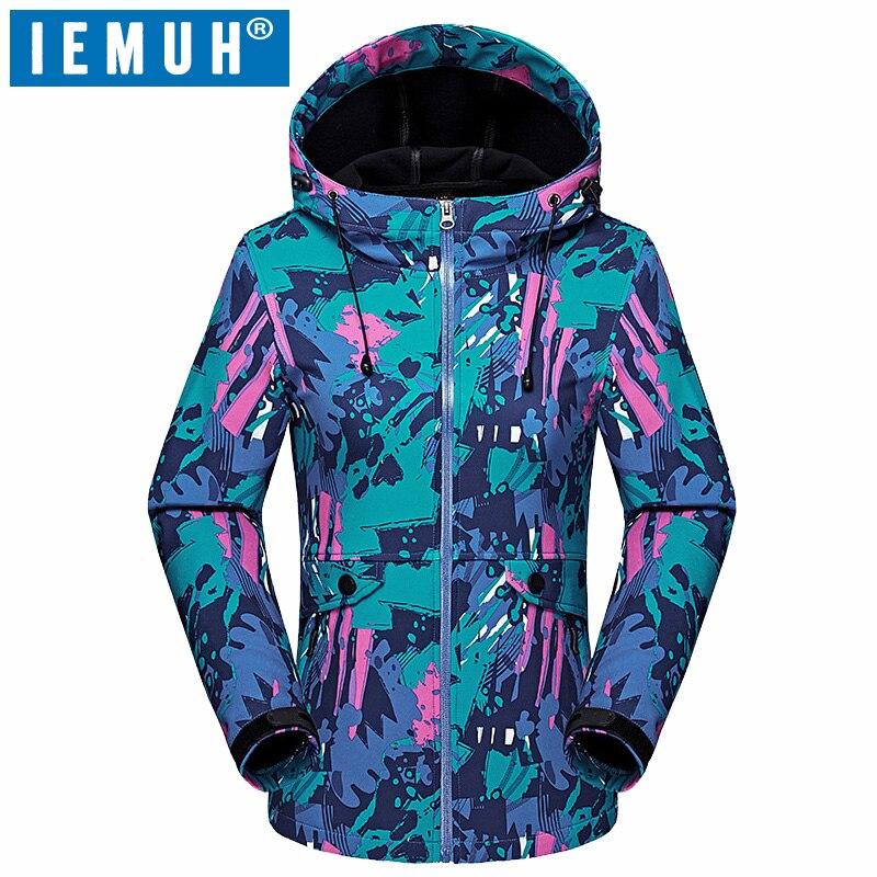 IEMUH marque Sport en plein air automne escalade randonnée Softshell veste imperméable coupe-vent ski thermique coupe-vent polaire vestes