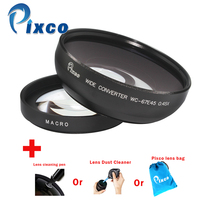 Professional 67mm 0 45X Wide Angle Lens With Macro Suit For Canon Nikon Sony Lens Cleaning