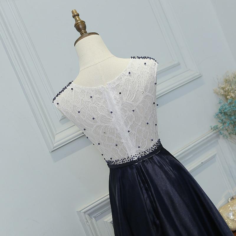 SOCCI Klassiek zwart en wit Patchwork Elegant parels Kralen lang - Jurken voor bijzondere gelegenheden - Foto 5
