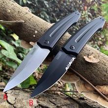 купить Promotion!! High quality Kershaw 7200 knife folding white blade knife D2 camping knife all aluminum handle EDC tool C81 C07 C11 недорого