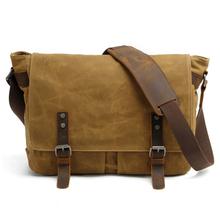 E6928 Canvas Vintage DSLR SLR Camera Bag Shoulder Strap Case Casual Shoulder Messenger Pack for Canon for Sony Waterproof Bag
