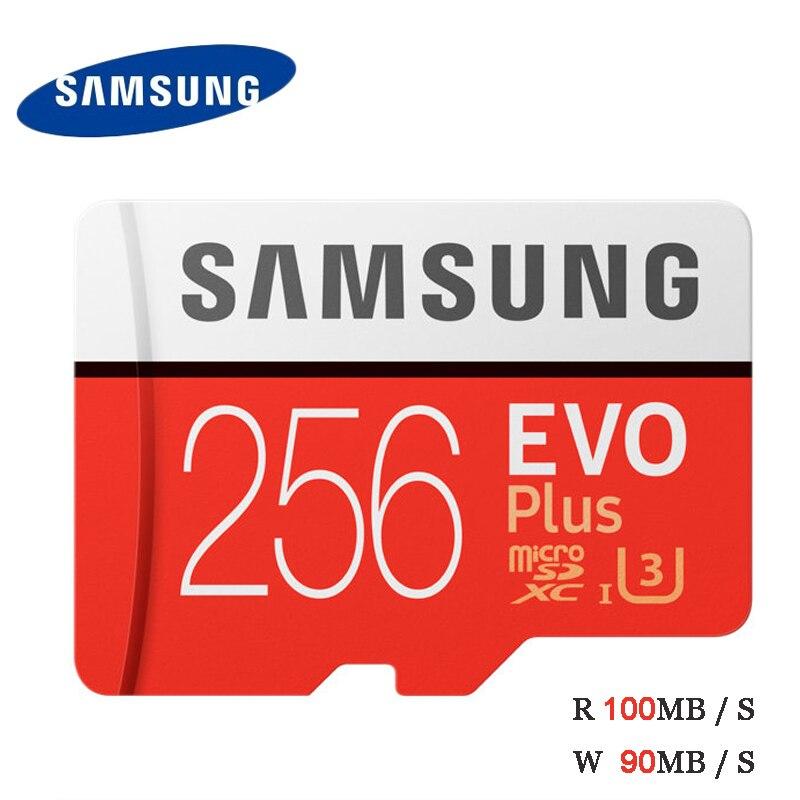Carte SAMSUNG EVO Plus Microsd Class10 64 go 128 go 256 go 512 go SDXC U3 100 mo/s cartes mémoire Flash 32 go SDHC U1 95 mo/s carte TF