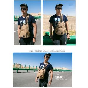 Image 4 - 高品質ヴィンテージ胸バッグキャンバス男性スリングバッグ大容量ハンドバッグカジュアルショルダーバッグホット販売クロスボディバッグ 2 サイズ
