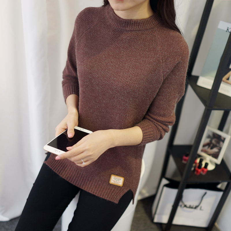 Women Pretty Knitting Sweater Winter Thickening Jumpers Side ...