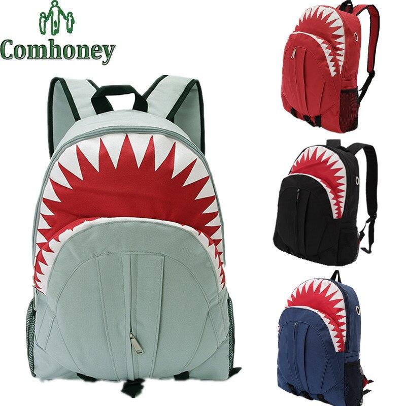 Cartoon Shark Backpack for Girls 3D Big Mouse