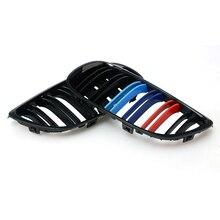 1 пара решетка для BMW 3 серии E92 E93 06-09 2 двери черный глянец автомобиль широкий почек решетка для гоночного автомобиля гриль авто-Стайлинг 8 P