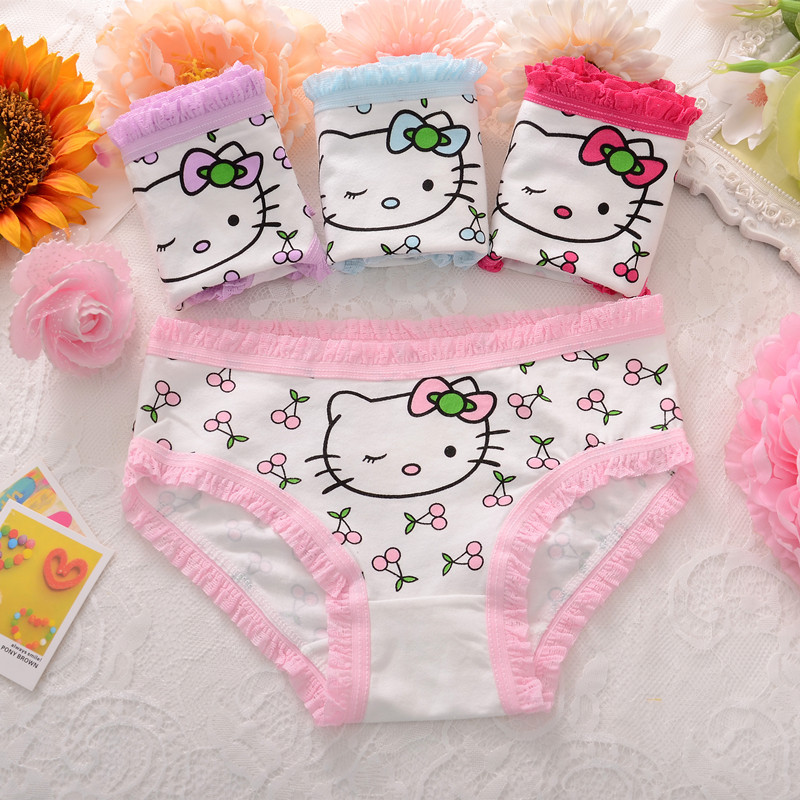 1PC Cute Little Kitty Underwear Children's Underwear Baby Briefs Girls Underwear