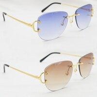Designer Sunglasses Mens Metal Rimless Sun Glasses Brand Carter Fashion Sunglass Holiday Decoration Shade For Men