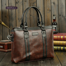 Mens single shoulder bag cross portable leisure travel crazy horse leather handbags