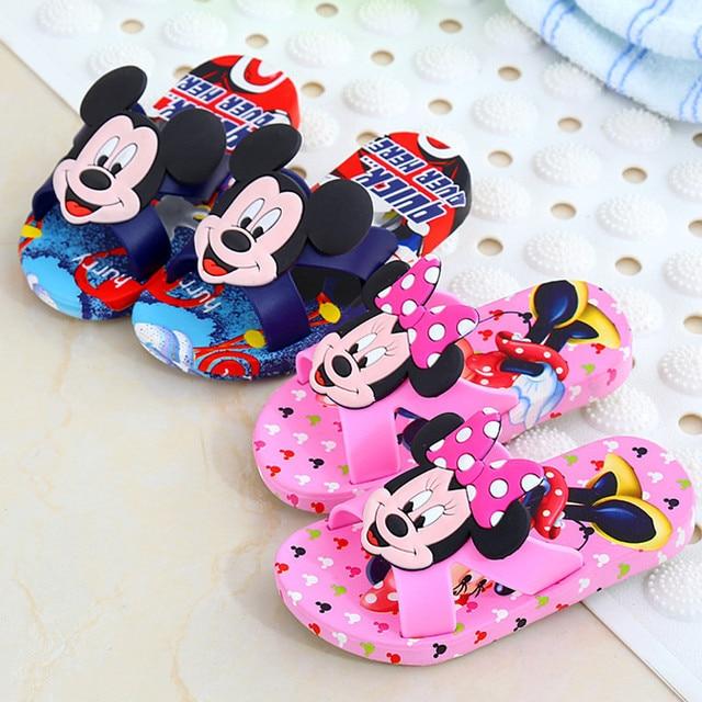 6fa623702e0fbc 2018 New children cool slippers cartoon Mickey boys girls sandals summer non -slip cute bathroom