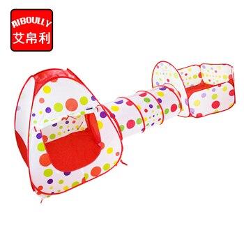 Tipi Pour Les Enfants | AIBOULLY Piscine-Tube-tipi 3 Pc Pop-up Jouer Tente Enfants Jouer Tunnel Enfants Jouer Jeu Jouet Maison Jouer Tente Lodge Pour Enfants