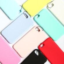Renk Ultra Ince Telefonu iphone kılıfları 7 8 Artı 6 6 s XS Max XR X S 5 S SE Orijinal buzlu Mat Yumuşak Silikon Şeker Kapak EEM...