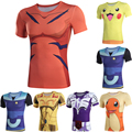 2016 New Fashion Classic Anime Characters 3D Camiseta Digimon T Shirt homme Casual Cotton Digimon Adventure Greymon S-XXXXL