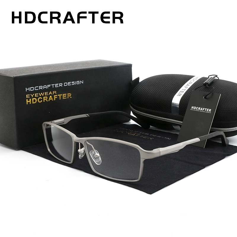 HDCRAFTER 150mm Titanium Frame Optical Recipe Prescription Glasses Men Diopter Myopia Hyperopia Eyeglasses Photochromic Glasses