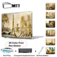Paris Memories Laptop Matte Protective Case For Macbook Air Pro 11 13 15 Retina 13 Case