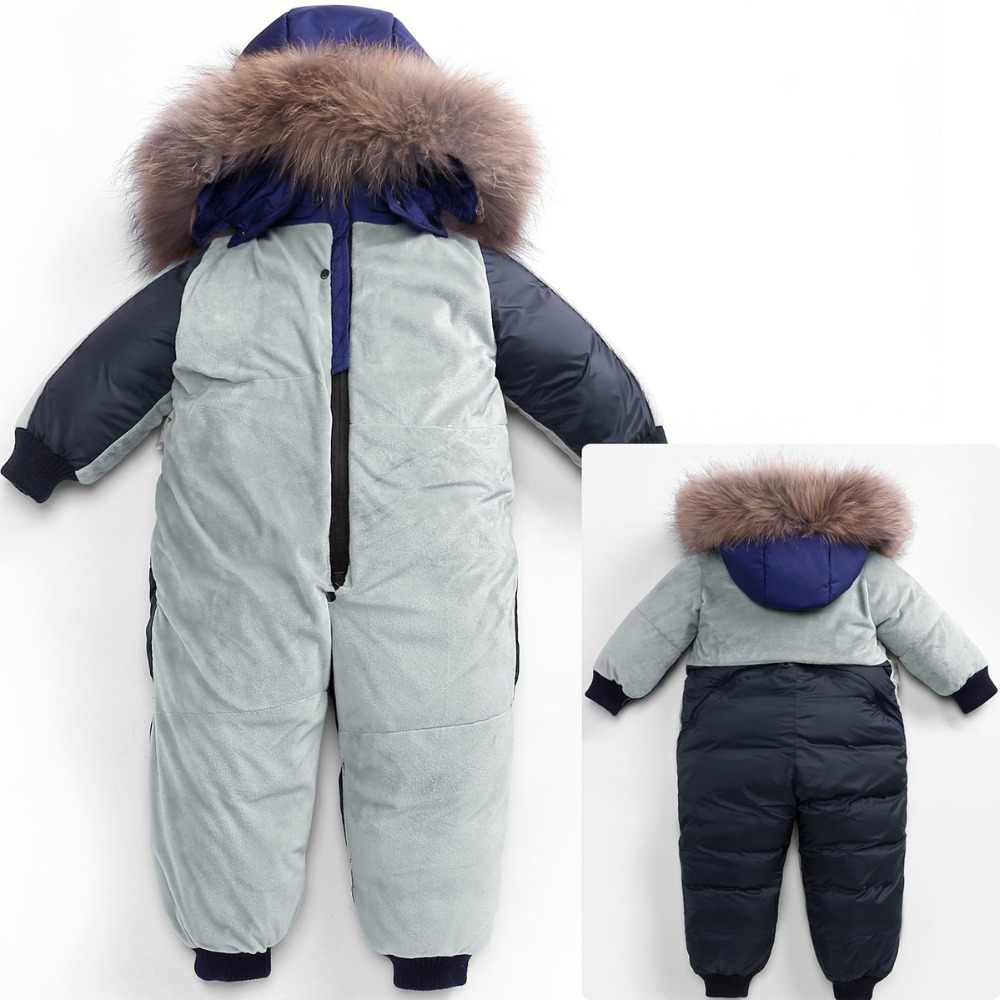 434238490 ... Winter Snowsuit Boy Baby Jacket Duck Down Outdoor Infant Clothes Girls  clothing For Boys Kids Jumpsuit ...