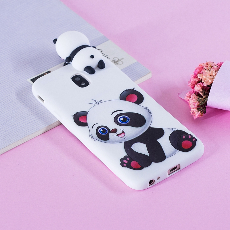 j3 j5 j7 pro sfor coque samsung galaxy j3 2017 j330 case 3d panda soft silicon back cover for