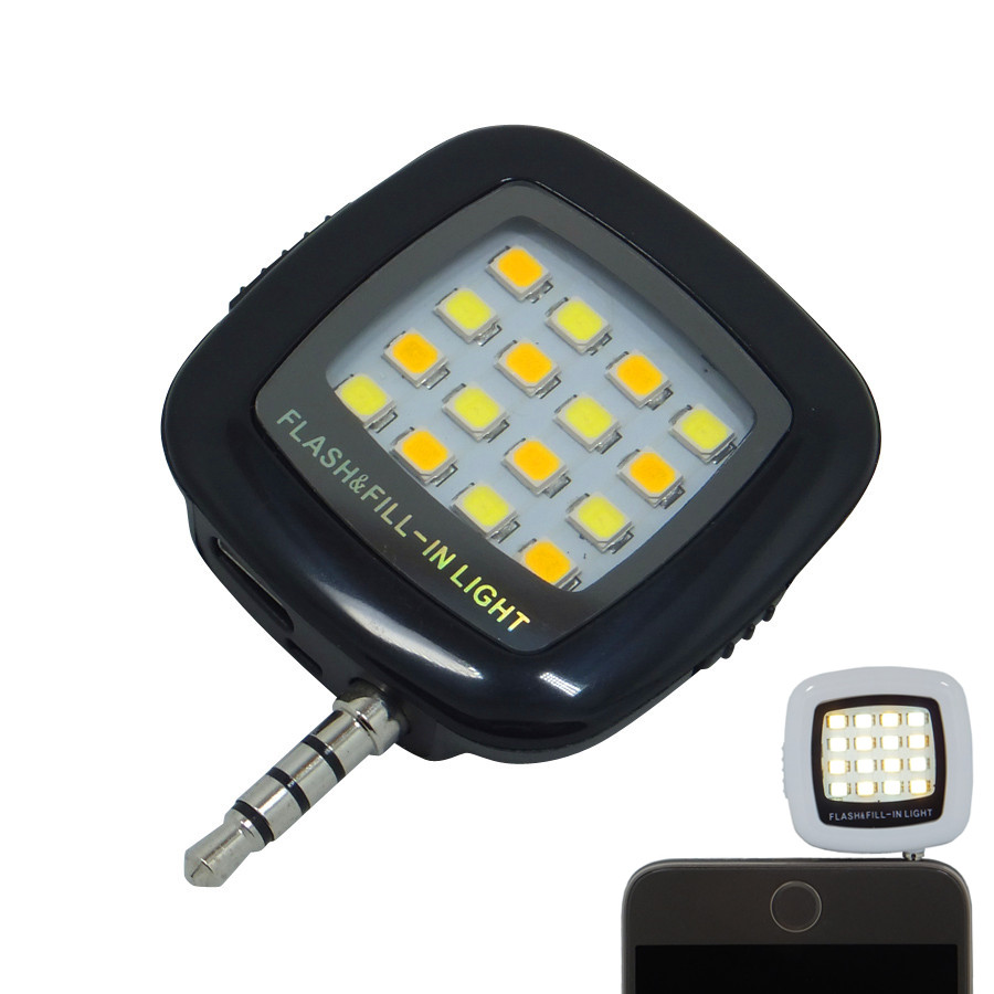 Smartphone-beleuchtung, led-licht selfie lampe für telefon taschenlampe kamera handy viltrox speedlite yongnuo nacht