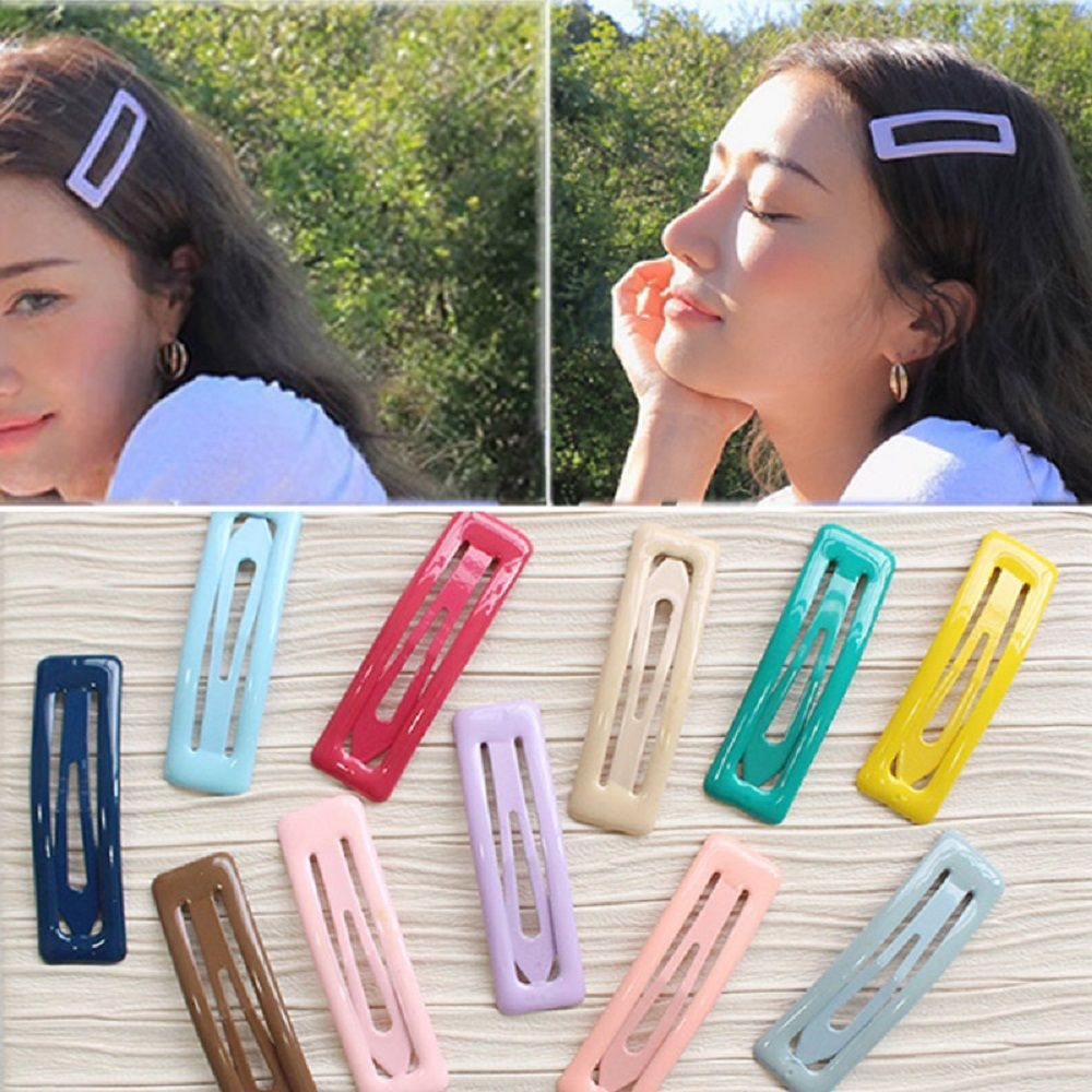 Cute Glitter Hairpins Snap Hair Clip For Girls Hair Pins Unique Women's Gift BB Hair Clip Candy Color Hair Accessories Dropship
