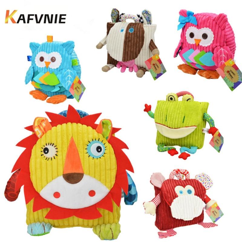 2018 New1-3 Old Owl Backpacks Stress Reliever Design Mini Cartoon Schoolbag Children School Bags kindergarten Girls Boys Bag