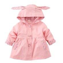 Cotton Jacket Coat Windbreaker Spring Fille Baby-Girls Clothing Hooded Autumn Kids Children