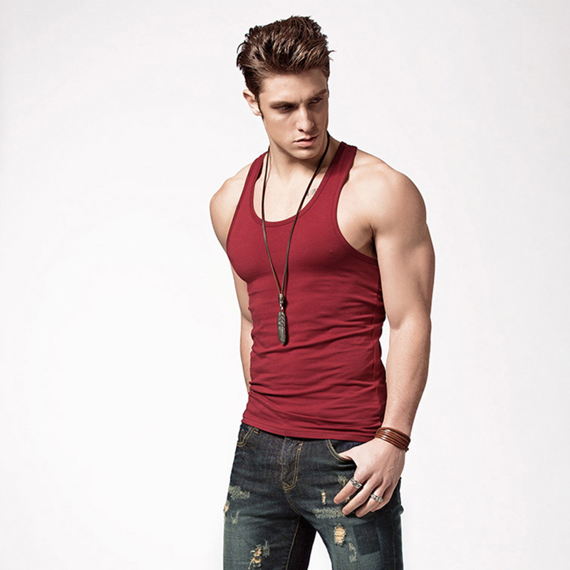 2018 Brand Clothing Casual Bodybuilding Gilet Men   Tank     Tops   Summer Male Sleeveless Vest Gymclothing fitness Men Vests