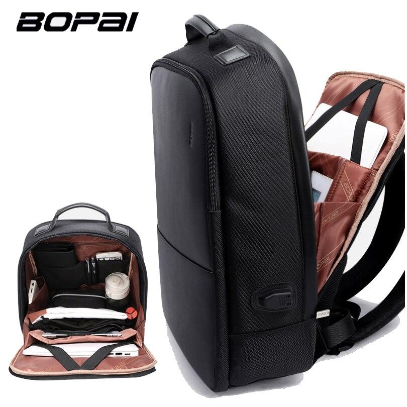 BOPAI Brand Men Laptop <font><b>Backpack</b></font> USB External Charge Computer Shoulders Anti-theft <font><b>Backpack</b></font> 15 inch Waterproof Laptop <font><b>Backpack</b></font>