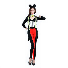 Srta. Mouse Costume para la Mujer Minnie Mouse Cosplay Adulto Del Club de Noche para Las Mujeres de Lujo de Cosplay Rojo Mickey Ropa para Halloween