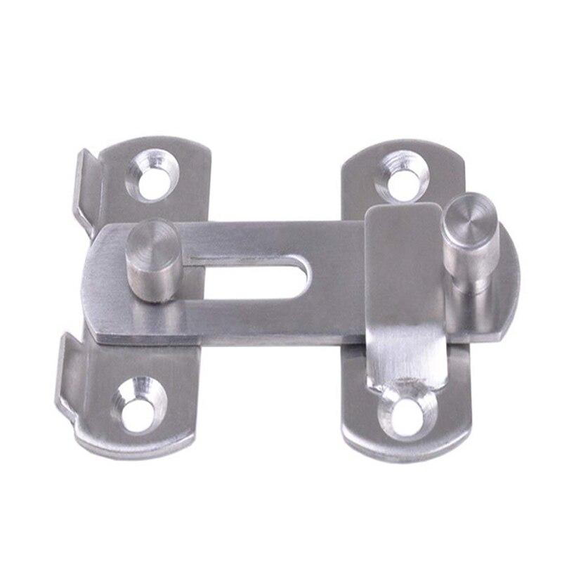 cerradura ventana inodoro puerta de mascota cerradura de seguridad para puerta de ba/ño muebles Pestillo de acero inoxidable para puerta corredera 2 piezas