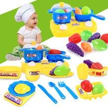 25 шт./компл. Пластик игрушечный миксер пищевой реквизит фрукты для резки овощей игрушка для Детский обучающий игрушечный театр игрушка