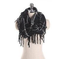 עיצוב החדש 2017 מותג האופנה החורף לעבות חם צוואר צעיפים חמים אקריליק גדילים נשים צעיף צוואר משובץ Cachecol Feminino