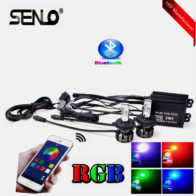 2019 H4 LED Phare Vente Chaude APPLICATION Voiture RVB H8 H11 9005 9006 9012 H7 H13 H16 lampes LED Contrôle Bluetooth HB1 HB2 HB3 HB4 HB5