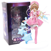 Anime Card Captor Sakura Clear Card Kinomoto Sakura with Dream Wand PVC Figure Collectible Model Toy