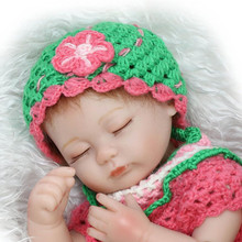 Interactive 42cm 17inch Reborn Baby Girl Doll With Colourful Handmade Sweater Hot Sell Sleeping Bebe Meninas As Birthday Gift