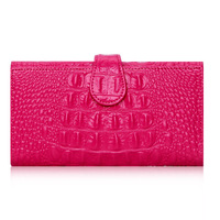 New Famous Brand Designer Luxury Alligator Genuine Leather Women Wallet Fashion Long Purse Celebrity Day Clutch