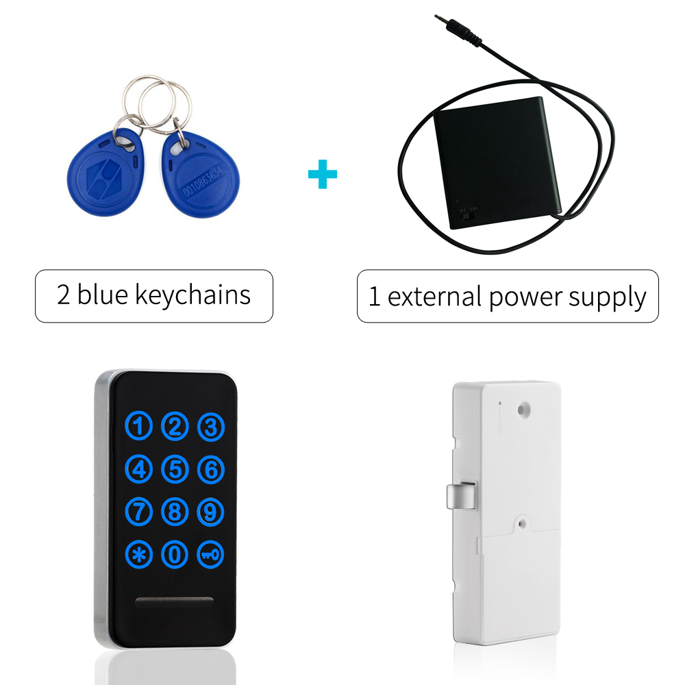Touch Keypad Number Password Lock Card Key Metal Digital Electronic Cabinet locker lock with external power supply panlongic 16mm 735 s1601 type 250v 1a electronic lock key switch phone lock double pull power supply lock power lock