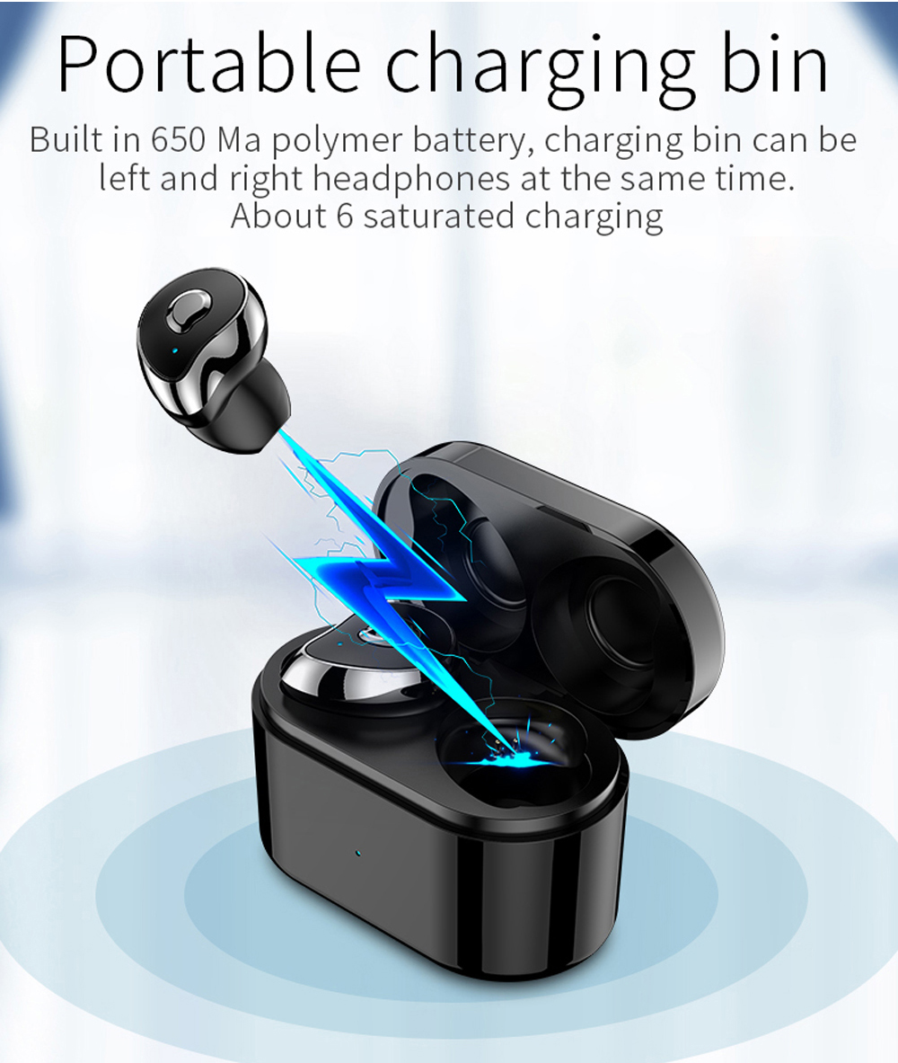 Bluetooth 5 0 Earphones TWS SE6 In Ear Wireless Bluetooth 5 0 Earphones Sports Earbuds Game Video Headset with Charging Box Mic in Bluetooth Earphones Headphones from Consumer Electronics