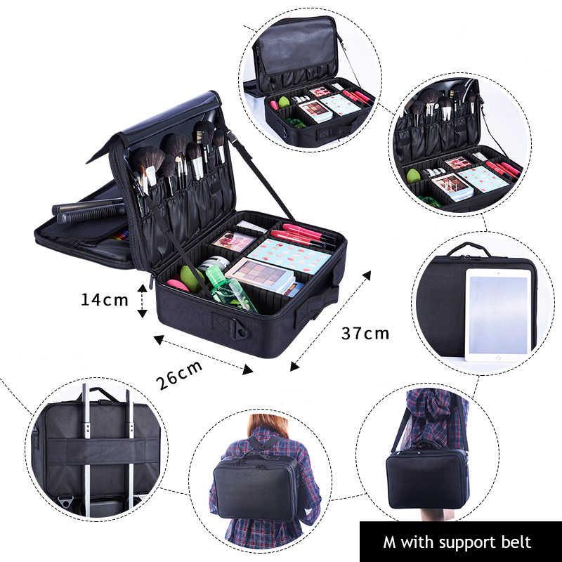 Yeni Oxford bez profesyonel güzellik kozmetik çantası makyaj organizatör seyahat aksesuarları su geçirmez büyük kapasiteli bavul