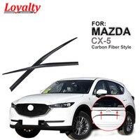 Lealdade para mazda cx5 CX-5 2017 2018 tronco traseiro tampa capa guarnição boot bagageira capa tirm abs carbono acessórios do carro auto estilo