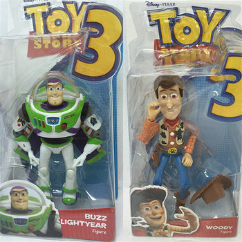 Toy Story 3 Buzz lightyear Sheriff Woody 2 unids set alta calidad PVC  figura de acción juguetes clásicos 4c3f6bb35d9