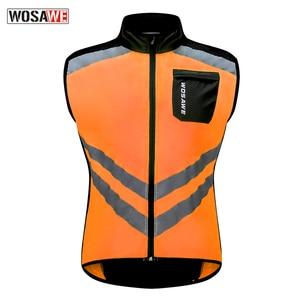 Image 3 - WOSAWE yansıtıcı motosiklet yelek Motocross spor takımı üniforma yüksek görünürlük güvenlik yelek Ultra hafif su geçirmez ceket