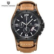 Men Luxury Brand PAGANI DESIGN Quartz Watch Mens Chronograph Sport Dive Wristwatch Clock Male Military Leather Watches Relogios