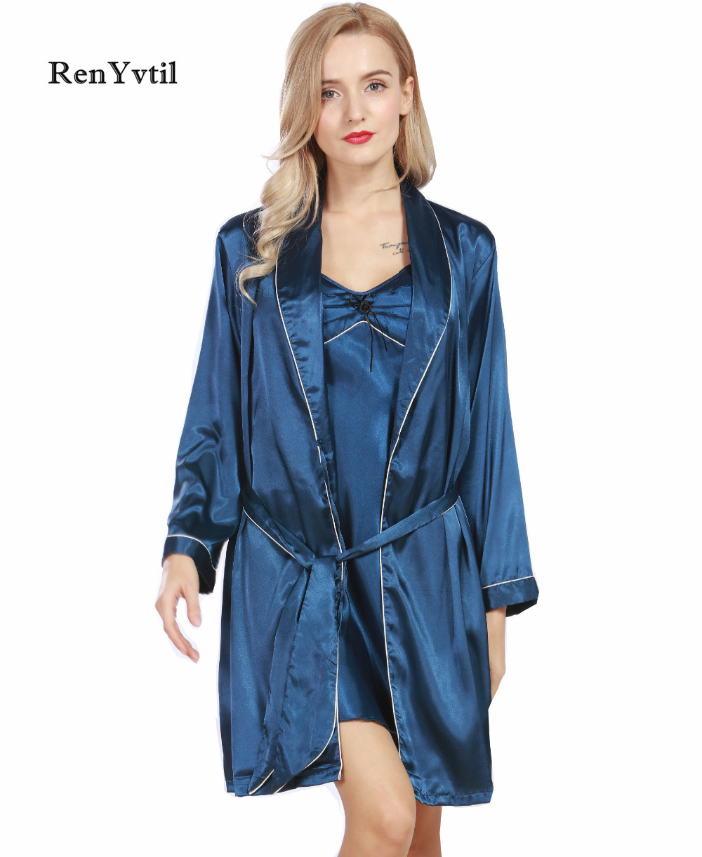 For Sale RenYvtil Women Robe Gown Sets Brand 2017 New Luxury Ladies ...