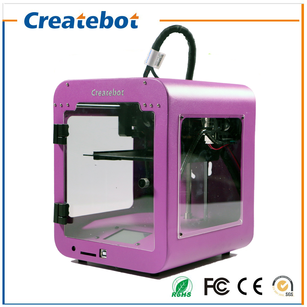 Createbot Super mini 3D Printer Small Full Metal Shape 3D Metal Printer Touch Screen 85 80