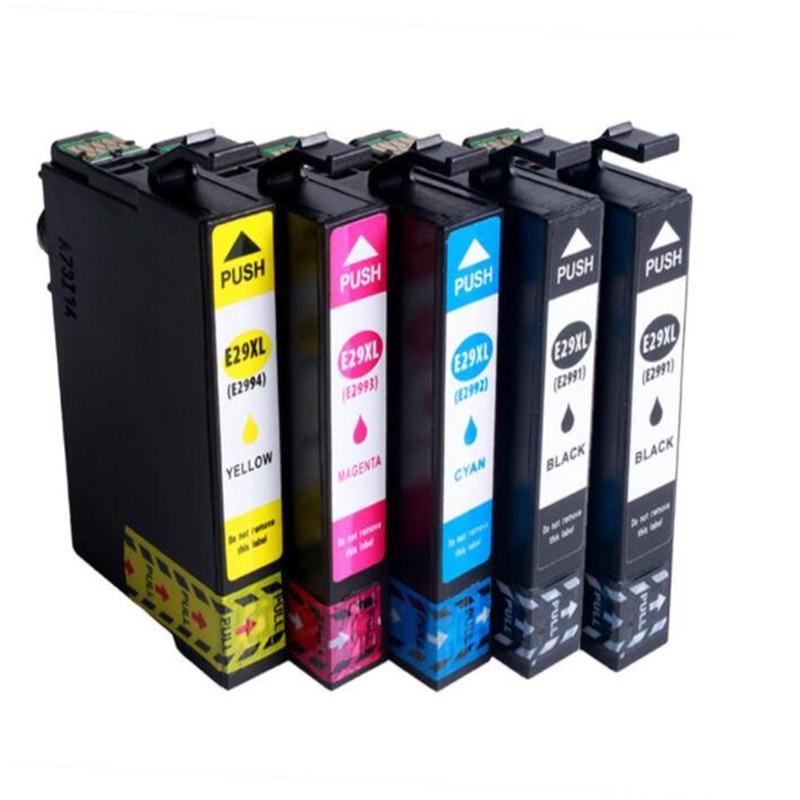 5 Ink 29XL  T2991   T2992  T2993  T2994  Cartridges For Compatible   XP-245 XP-247 XP-342 XP-345 XP-442 XP-332 Non-OEM