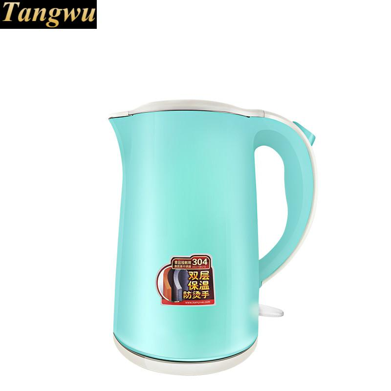 All steel seamless household electric kettle 304 stainless kettles cukyi household electric multi function cooker 220v stainless steel colorful stew cook steam machine 5 in 1